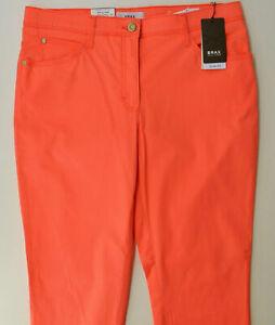 KAYAMARA Nomi Slim Fit  Damen Jeans in Orange//Koralle Used