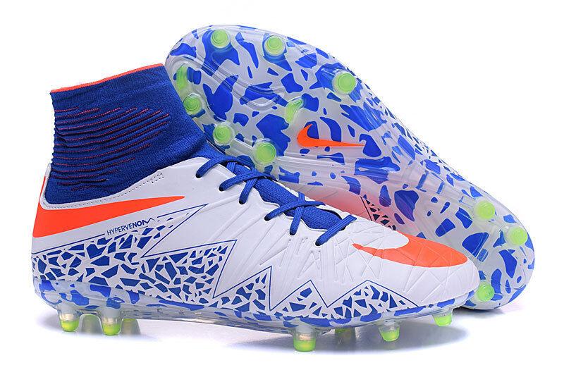Womens NIKE HYPERVENOM PHANTOM 2 AG Soccer Football Cleats Shoes White SIZE 7.5