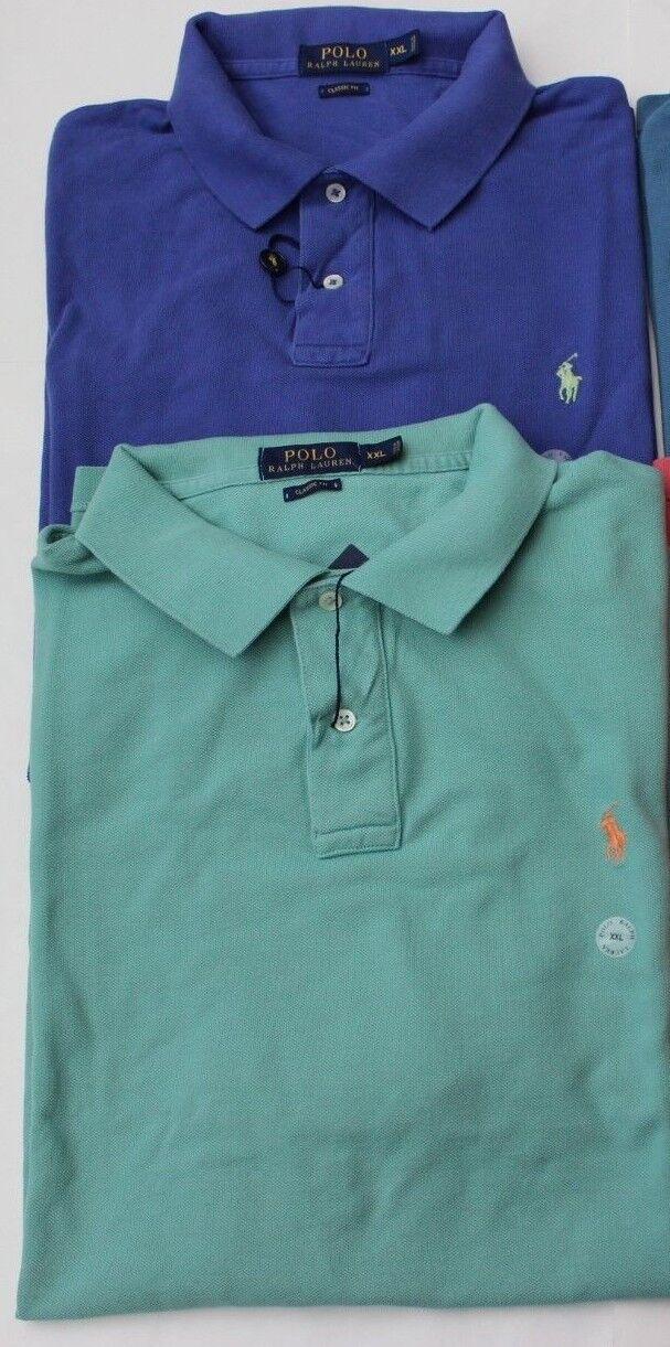 ee45886c4a2846 Polo Ralph Lauren Polo Shirt XXL 2XL Classic Fit NWT Options Men s ...