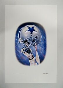 """Dallas Cowboys NFL Football 20"""" x 30"""" Team Lithograph Print by Kelly Russell"""