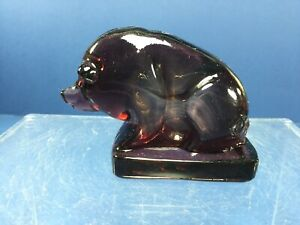Vintage-Boyd-Art-Glass-Suee-The-Pig-039-ThistleBloom-Made-in-the-USA