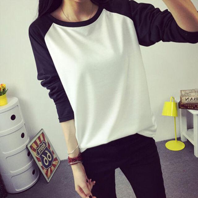 New Fashion Women's Ladies Loose Long Sleeve Casual Blouse Shirt Tops T-shirt