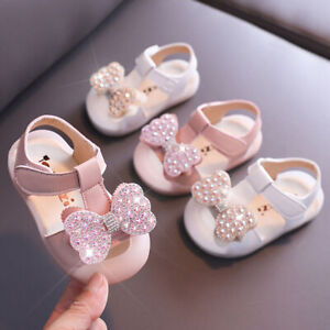 Baby Toddler Infant Kids Girls Princess Casual Soft Non-slip Party Dress Shoes