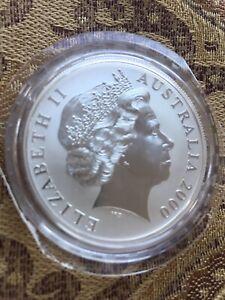 2000-Australian-KANGAROO-1-Troy-Oz-999-Fine-Silver-Coin-In-Original-Capsule-BU
