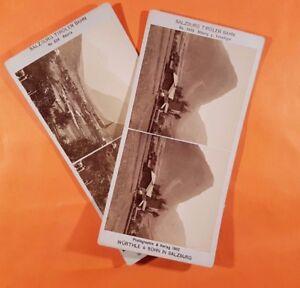 Zielsetzung 2 Stereobilder Würthle & Sohn Sehr Selten Supplement Die Vitalenergie Und NäHren Yin Salzburg Tiroler Bahn