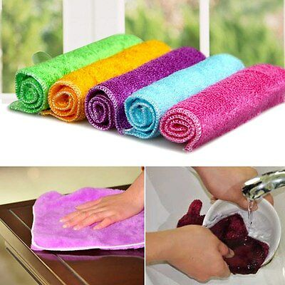 10x Microfibre Cleaning Cloth Towel Car Valeting Polishing Duster Wash Cloth