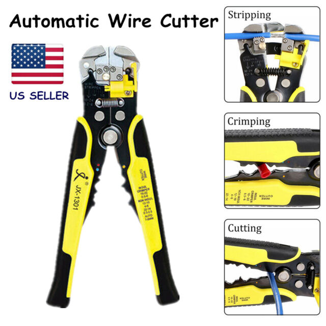 Multi-Functional Ratchet Wheel Crimping Press Pliers Wire Stripper Cutter Tool