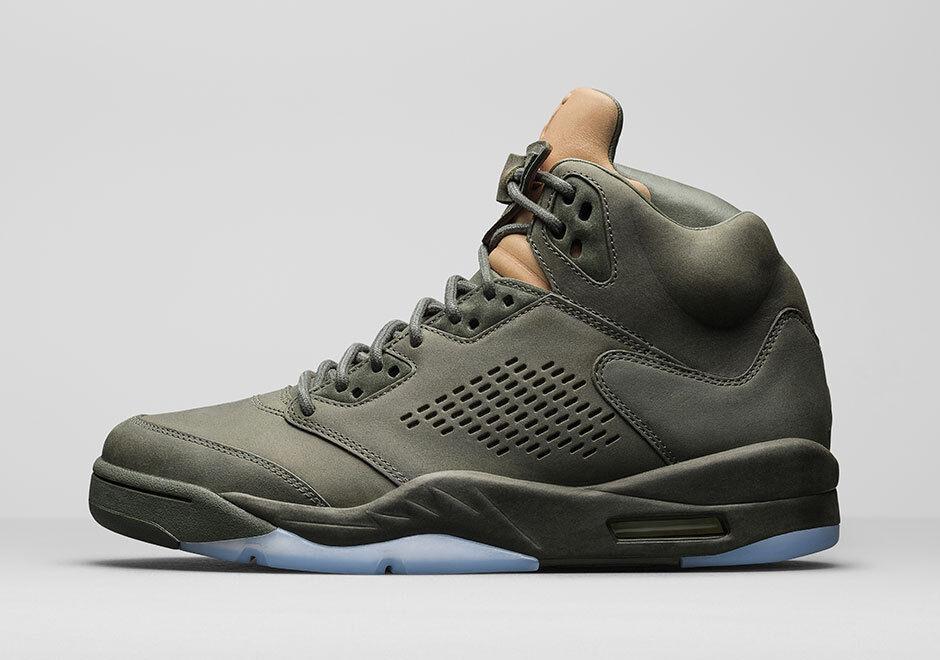Nike air jordan jordan jordan 5 v retro - premium - sz - 8. sequoia grüne lux 881432-305 4c1f2e