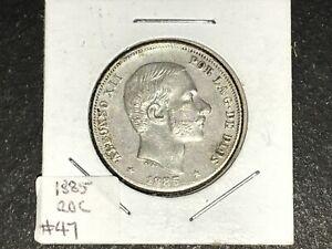 SPPI-Philippines-1885-20-Centavos-Silver-Coin-High-Grade-Lot-47