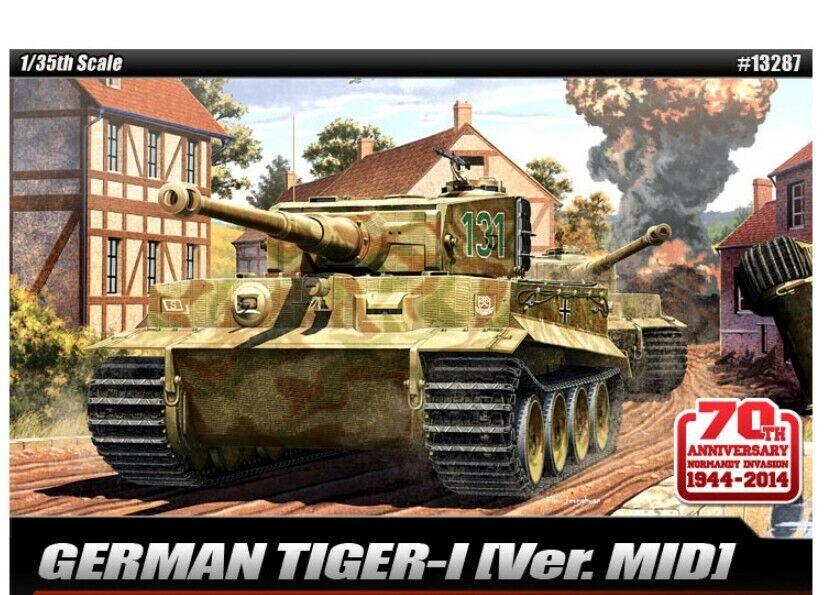 Akademi  35 skala Tysk Tiger -1 Ver.Mid Tank Plastic modelllllerler Hobby