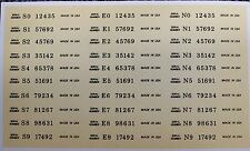 30 Guitar Headstock Decals Serial numbers