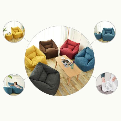 Sofa Bean Bag Chair Sofa Cover Removable Lazy Lounger Bean Bag Storage Soft Sofa