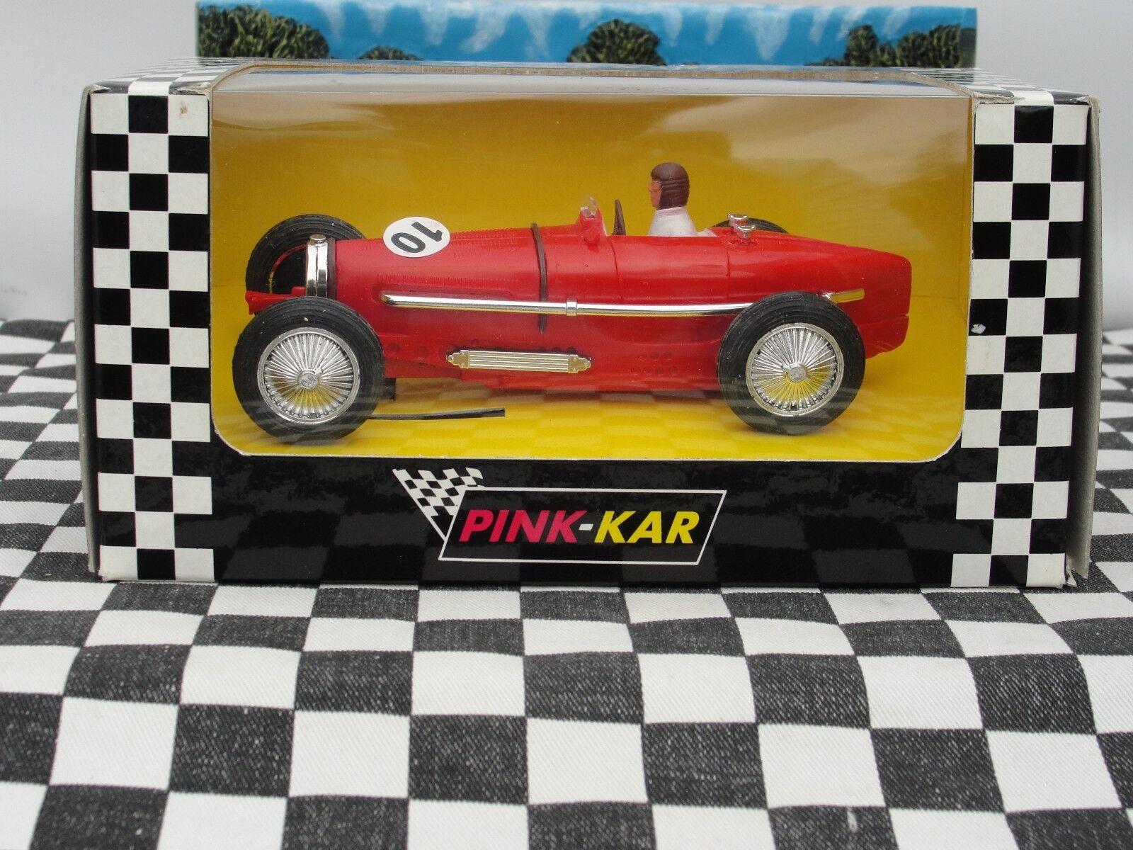 PINK KAR BUGATTI TYPE 59 GRAND PRIX  CV017 RED SLOT BRAND NEW IN BOX