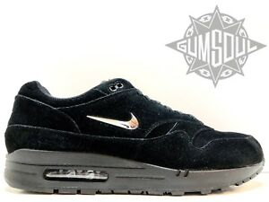 outlet store 7b9f2 eec63 Image is loading NIKE-AIR-MAX-1-PREMIUM-SC-BLACK-CHROME-
