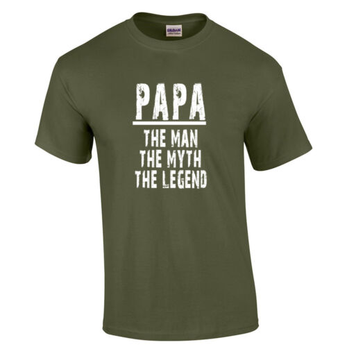 Papa The Man The Myth The Legend T Shirt Father/'s Day Grandfather T-Shirt Gift