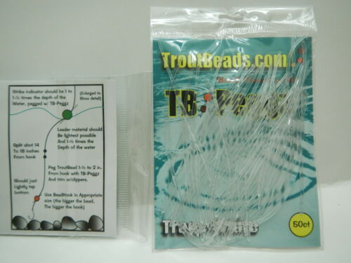 Troutbeads Peggz Clear, 50 = 100 uses