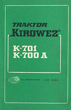 Bedienung Kirowetz Kirovets Kirowez K 701 K 700-A Leningrad K701 K 700 A