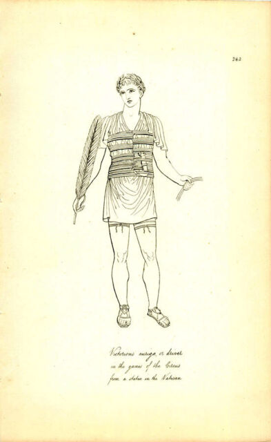 Victorious Auriga Driver In Games Of Circus Greek Roman Engraving
