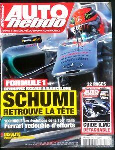 Auto Hebdo Du 16/03/2011; Schumi Retrouve La Tête/ Guide Le Mans Cup Ilmc Prix De Rue