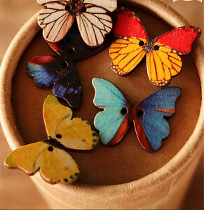 50pcs-Lots-Phantom-Wooden-Butterfly-Buttons-Sewing-Craft-Scrapbooking-2-Holes-H