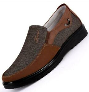 Sexy-Homme-Slip-On-Casual-Chiffon-OLD-Beijing-antiderapante-Mocassins-Conduite-Chaussures-plus-Sz