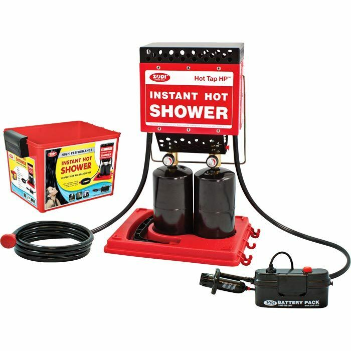 Zodi Hot Tap HP (MPN 6125)  - High Performance Double Burner Portable Hot Shower  for cheap