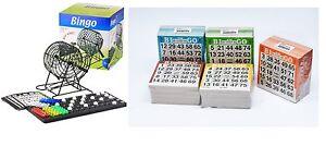 Bingo-XXL-Set-Metall-Bingotrommel-Bingo-Muehle-Lotto-Trommel-amp-500-Bingokarten