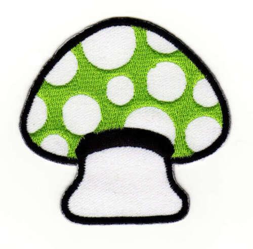 ac81 Magic Mushroom Pilze Aufnäher Bügelbild Patch Kinder Flicken 6,5 x 6,8 cm