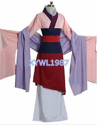 Mulan Dress Full Set Halloween Party Cosplay Costume Outfit Custom Made Any size