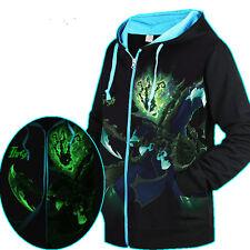 Luminous LOL League of Legends Thresh Zipper Coat Casual Hoodie Sweatshirt new