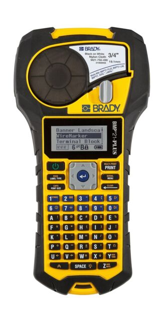 Brady BMP21-PLUS Handheld Label Printer with Rubber Bumpers, Multi-Line Print...