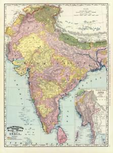 India Map 1897 Ceylon Bengal Nepal Extreme Definition PDF Hindostan Bhutan