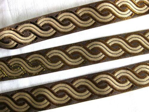40mm breit,lfm B352 Hübsche Borte glänzend in verschiedenen Farben