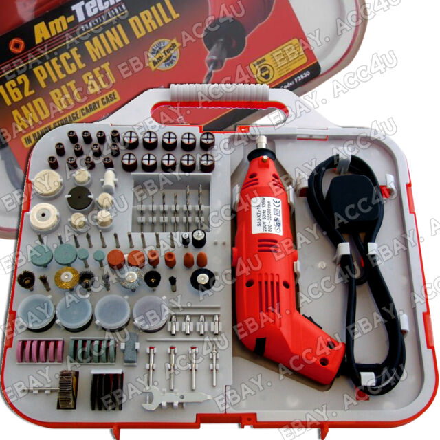 162PC DREMEL STYLE ELECTRIC 130W ROTARY MINI DRILL /& BIT SET JEWELLERY MAKING