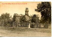 Original Main Building-State University-Lincoln-Nebraska-Vintage Postcard