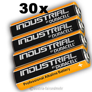 30x-MIGNON-AA-LR6-MN1500-Batterie-DURACELL-INDUSTRIAL-Folie