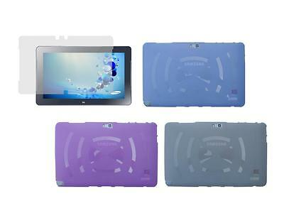 """TPU Skin Case Cover for Samsung ATIV Smart PC 500T1C 11.6/"""" View Stand Holder"""