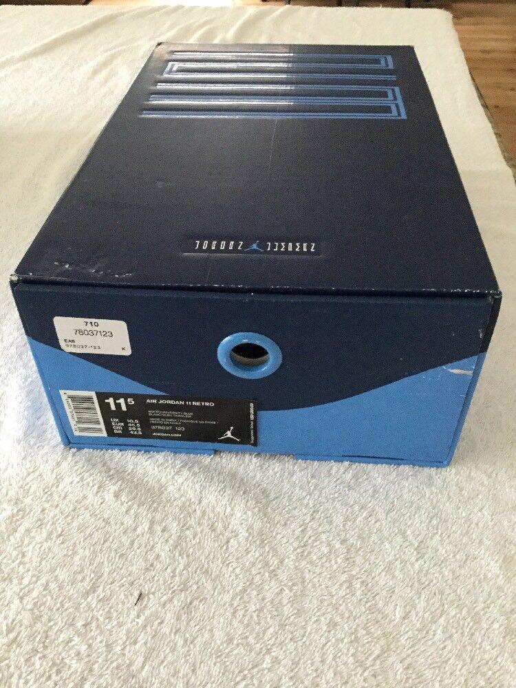Nike Air Jordan XI Retro White/University Blue Size 11.5, RARE, FAST SHIP, NIB