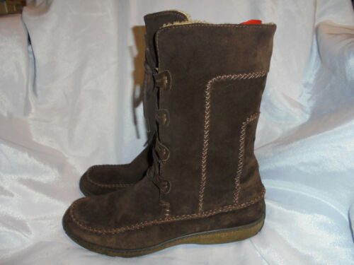 Us Brown Uk Timberland Women's Vgc Boot Up Size 38 8 5 Lace 5 5w 5 Leather Eu SFOxF