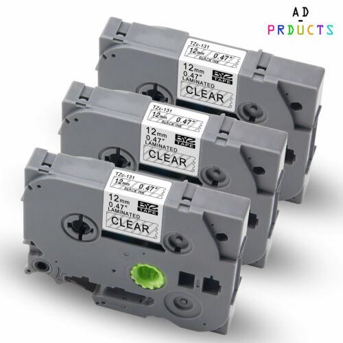 3x Schriftbänder für Brother TZ-131 TZe-131 für P-Touch 1000 1010 H100LB 12mm