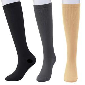 010ba9fc1b9 Image is loading New-Compression-Socks-Unisex-Women-Men-Pressure-Varicose-