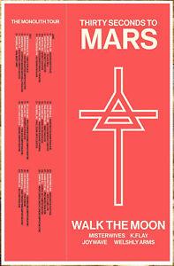 THIRTY SECONDS TO MARS The Monolith Tour 2018 Ltd Ed RARE ...