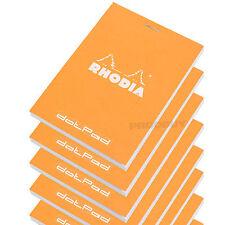 Set of 10 Rhodia Orange A7 dotPad Dot Matrix Grid 3D Paper Drawing Pads Notepads