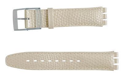 Uhrenarmbänder Uhren & Schmuck Ehrlich Original Swatch 17mm Leder Armband Pearlshell Asdk118 Neuware Der Preis Bleibt Stabil