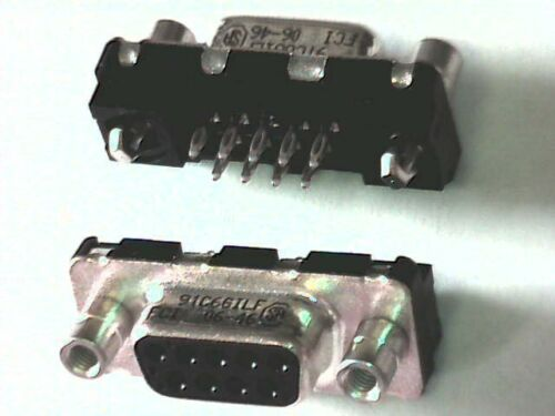 2x sub-d-enchufe hembra 9pol FCI Print 180 ° con rosca pernos