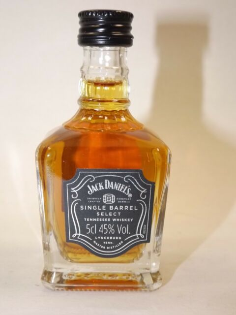 Jack Daniels Whiskey Single Barrel 5 cl 45% mini flasche bottle miniature UK