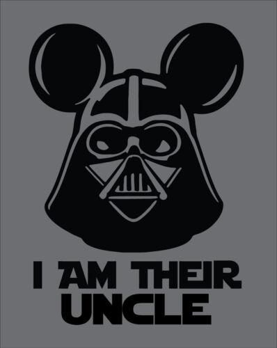 Star Wars I am Their Uncle Disney Vacation Shirt Darth Vader Family Men Men/'s