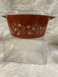 PYREX Bake 'N' Carry (Trailing Flowers) 1.5L 474B Casserole With Lid C3
