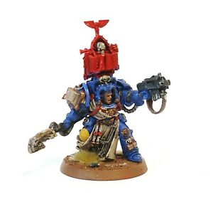 WARHAMMER-ARMY-40K-SPACE-MARINE-TERMINATOR-LIBRARIAN-PAINTED
