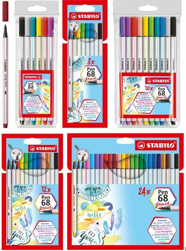 8er Etui Fasermaler Stabilo-Pen 68 Pastell Stabilo Premium Filzstift